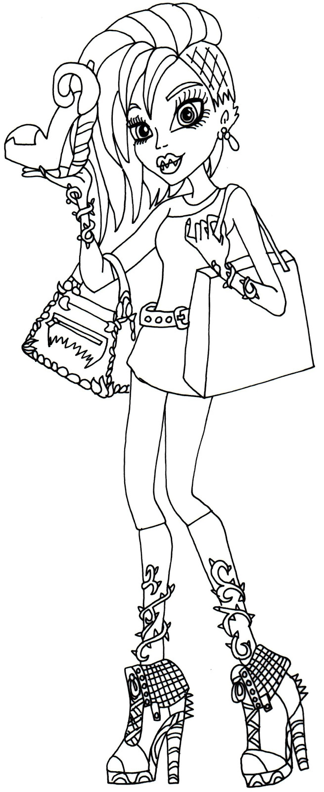 Monster High Printable Coloring Pages  Free Printable Monster High Coloring Pages April 2014