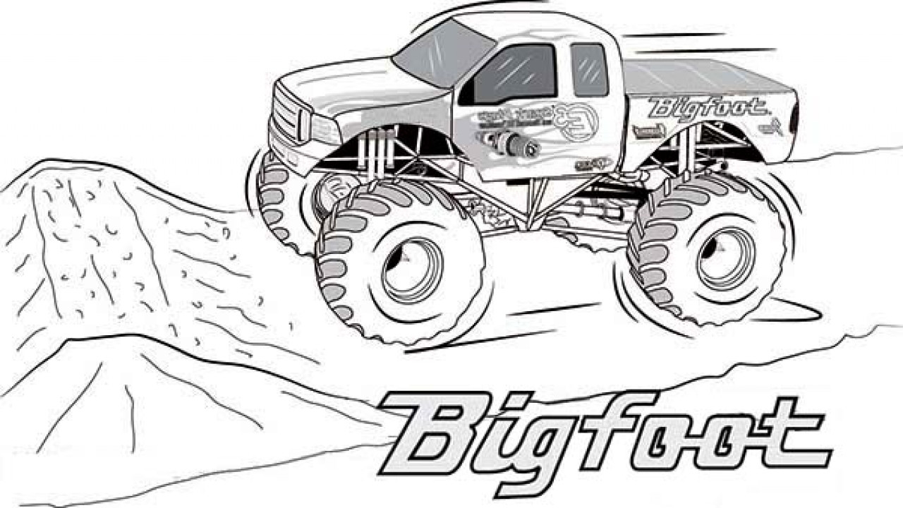 Monster Trucks Coloring Pages  Bigfoot Monster Truck Coloring Pages Page grig3