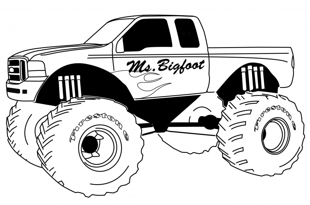 Monster Trucks Coloring Pages  Free Printable Monster Truck Coloring Pages For Kids