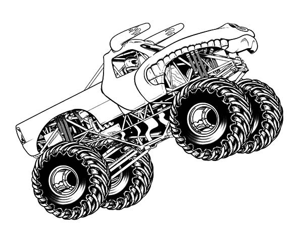 Monster Trucks Coloring Pages  46 Monster Truck Coloring Pages Free Coloring Pages M