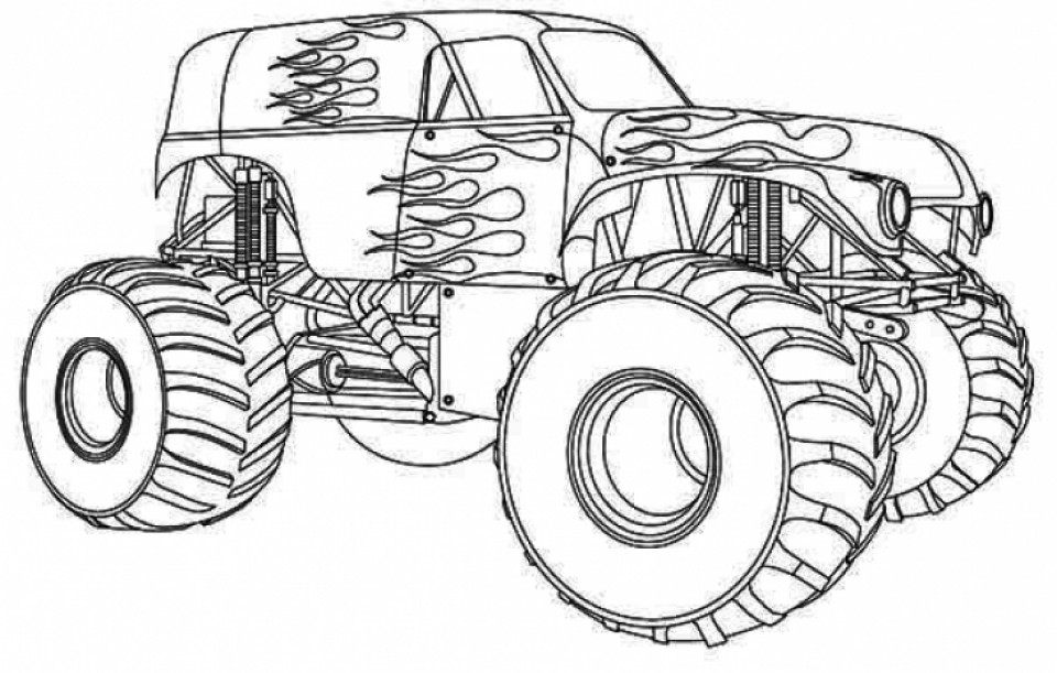 Monster Trucks Coloring Pages  Get This Printable Monster Truck Coloring Pages