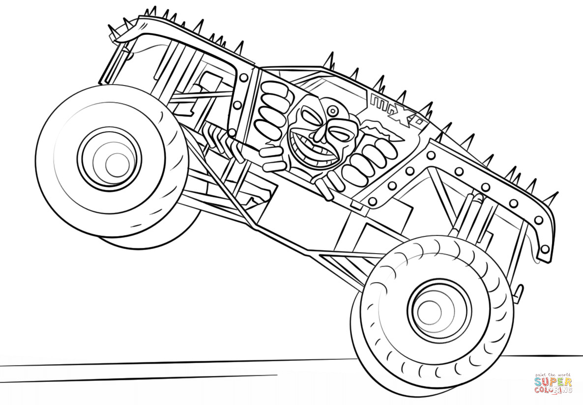 Monster Trucks Coloring Pages  Max D Monster Truck coloring page