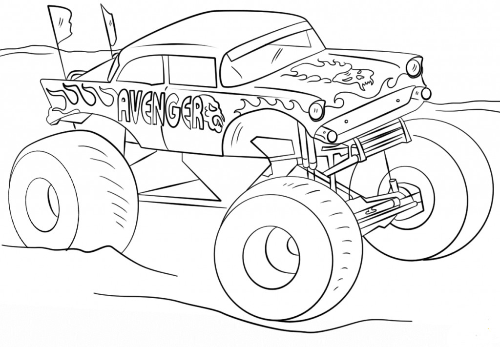 Monster Trucks Coloring Pages  10 Monster Jam Coloring Pages To Print