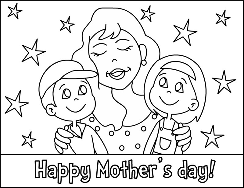 Mother Day Coloring Sheet  Mothers Day Coloring Pages 2018 Dr Odd