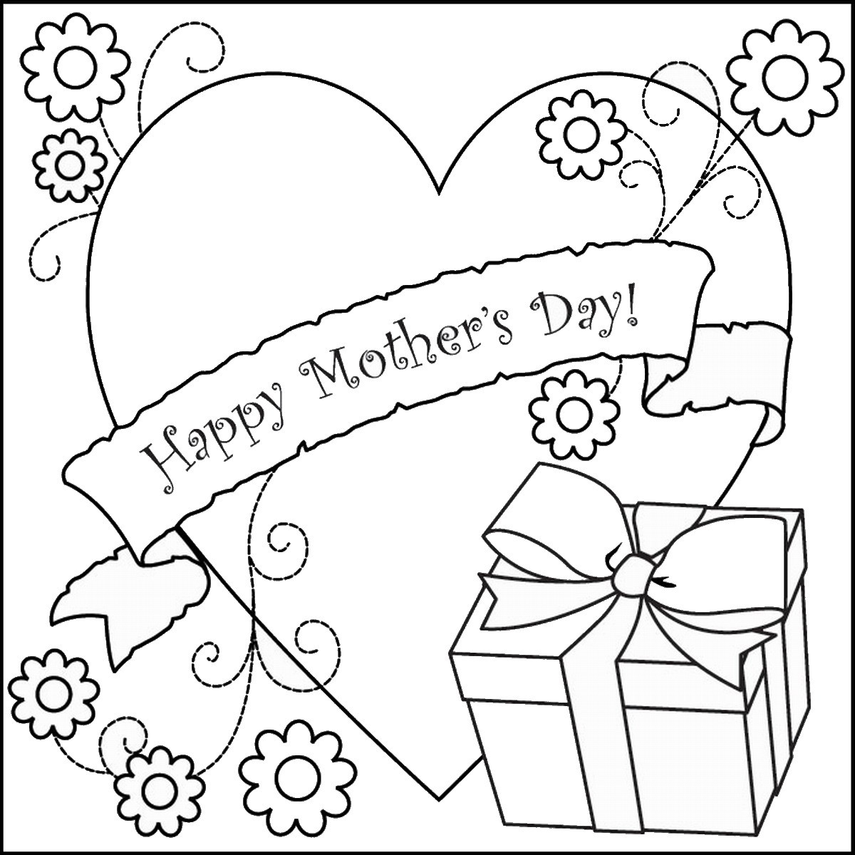 Mother Day Coloring Sheet  Printable Mothers Day Coloring Pages Cards Christmas Day