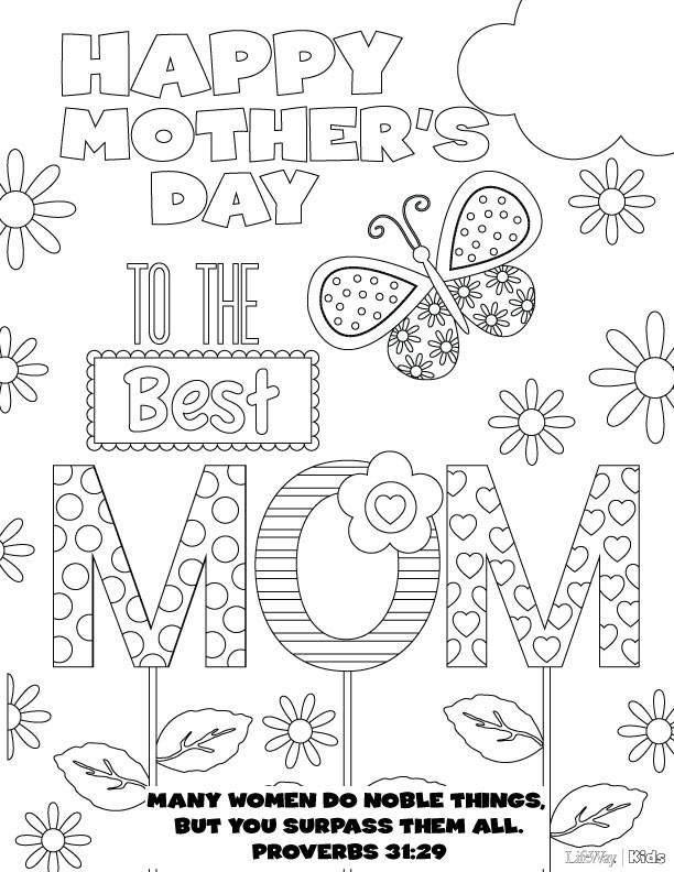 Mother Day Coloring Sheet  Mother's Day Coloring Pages