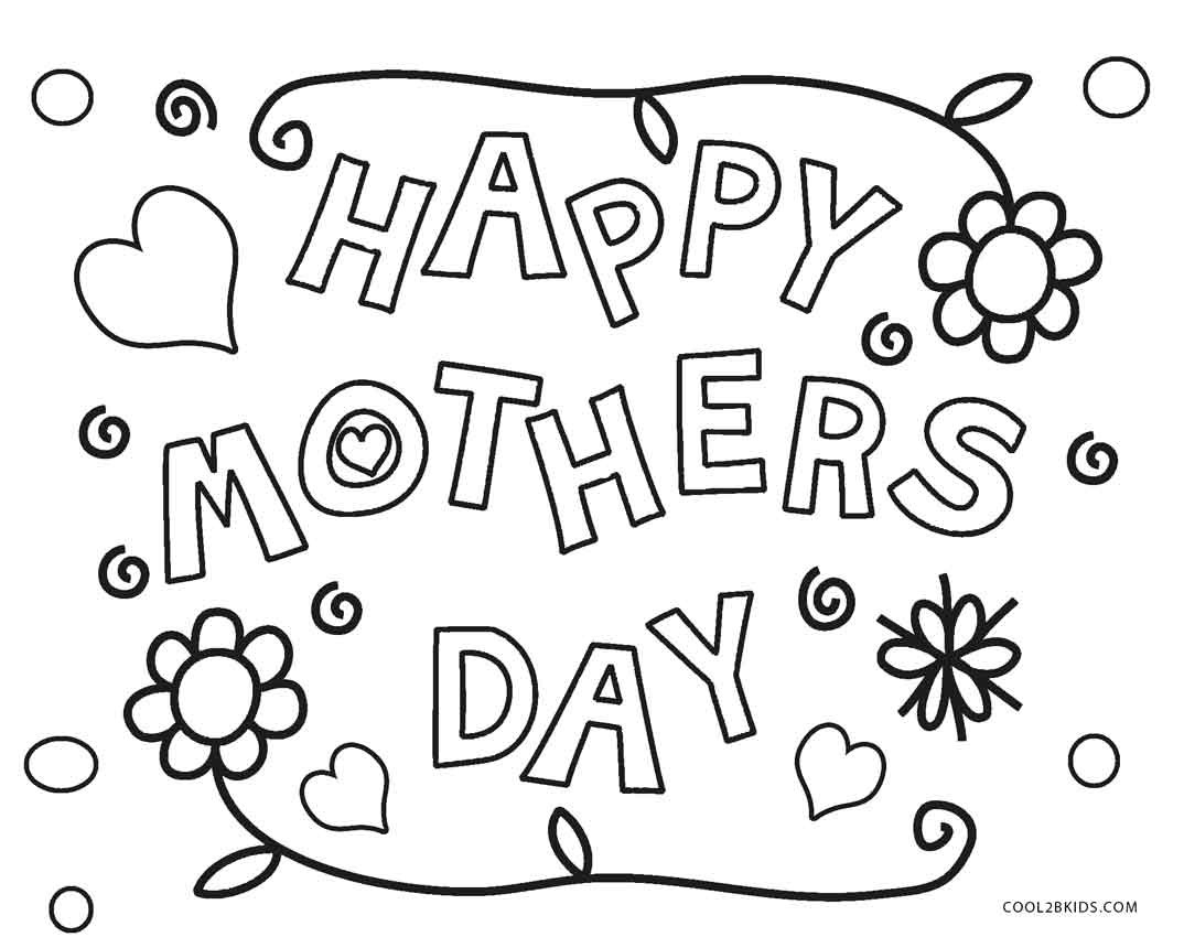 Mother Day Coloring Sheet  Free Printable Mothers Day Coloring Pages For Kids