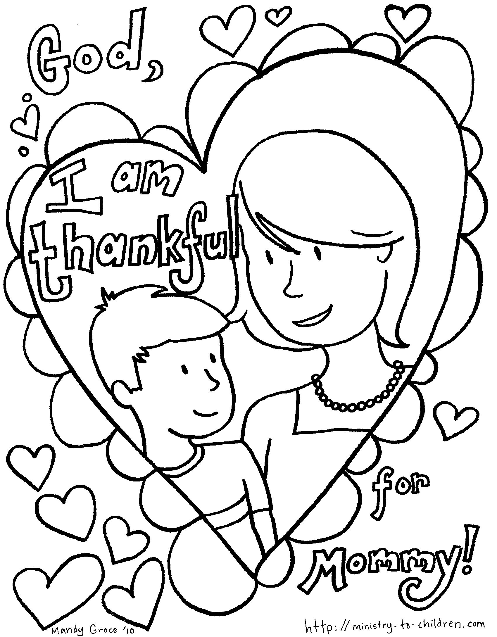 Mother Day Coloring Sheet  Mothers Day Coloring Pages Kids Happy Valentines Day