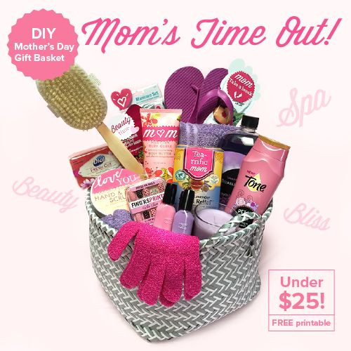 Best ideas about Mother Day Gift Basket Ideas Homemade . Save or Pin DIY Mother's Day Gift Basket – Mom's Time Out Under $25 Now.