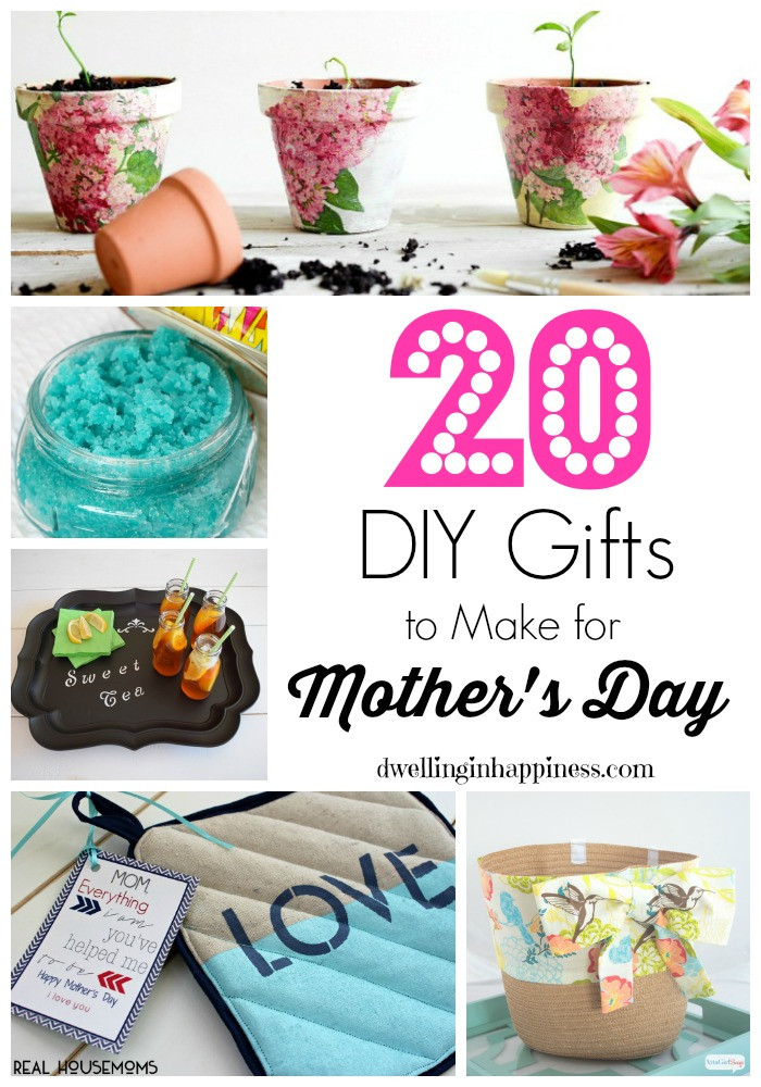 Best ideas about Mother'S Day Gift Ideas Diy . Save or Pin 20 DIY Gifts to Make for Mother s Day Dwelling In Happiness Now.