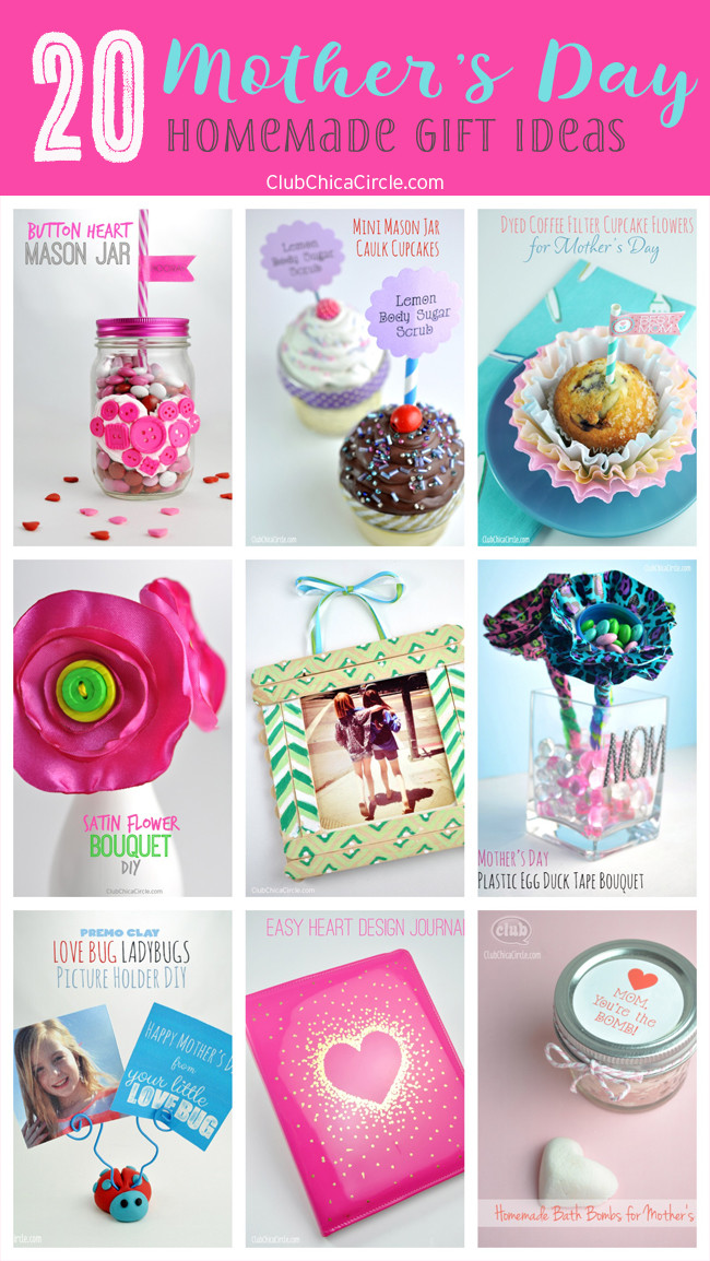 Best ideas about Mother'S Day Gift Ideas Diy . Save or Pin 20 Mother s Day Homemade Gift Ideas Now.