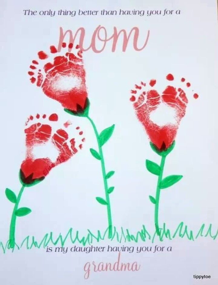 Mother'S Day Gift Ideas From Baby  Baby feet mothers day idea ART & Crafts