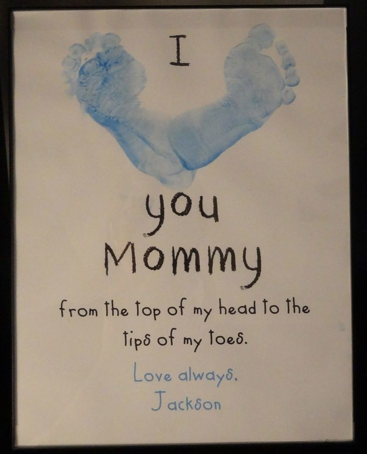 Mother'S Day Gift Ideas From Baby  Footprint Craft for Mother s Day Father s Day Valentine