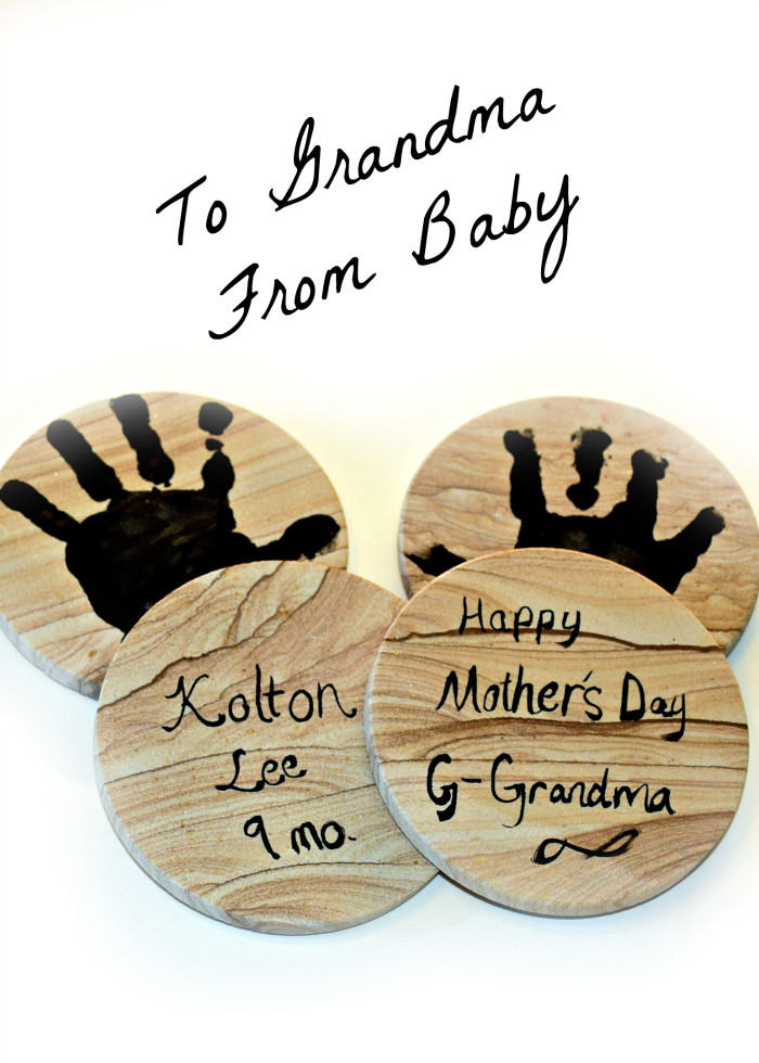 Mother'S Day Gift Ideas From Baby  To Grandma from Baby Happy Mother s Day