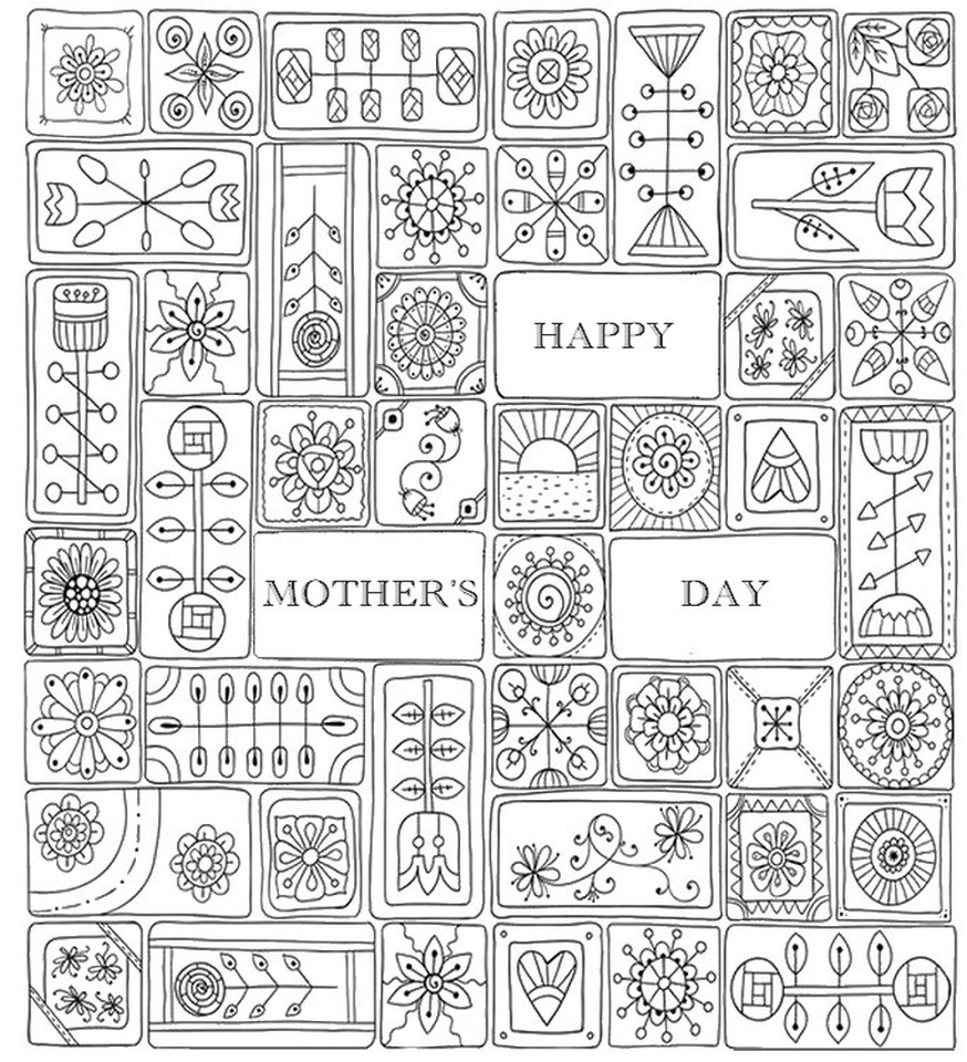 Mothers Day Coloring Pages For Adults  Get This Mother s Day Coloring Pages for Adults Printable