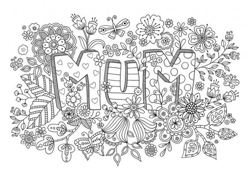 Mothers Day Coloring Pages For Adults  20 Free Printable Mother s Day Coloring Pages for Adults
