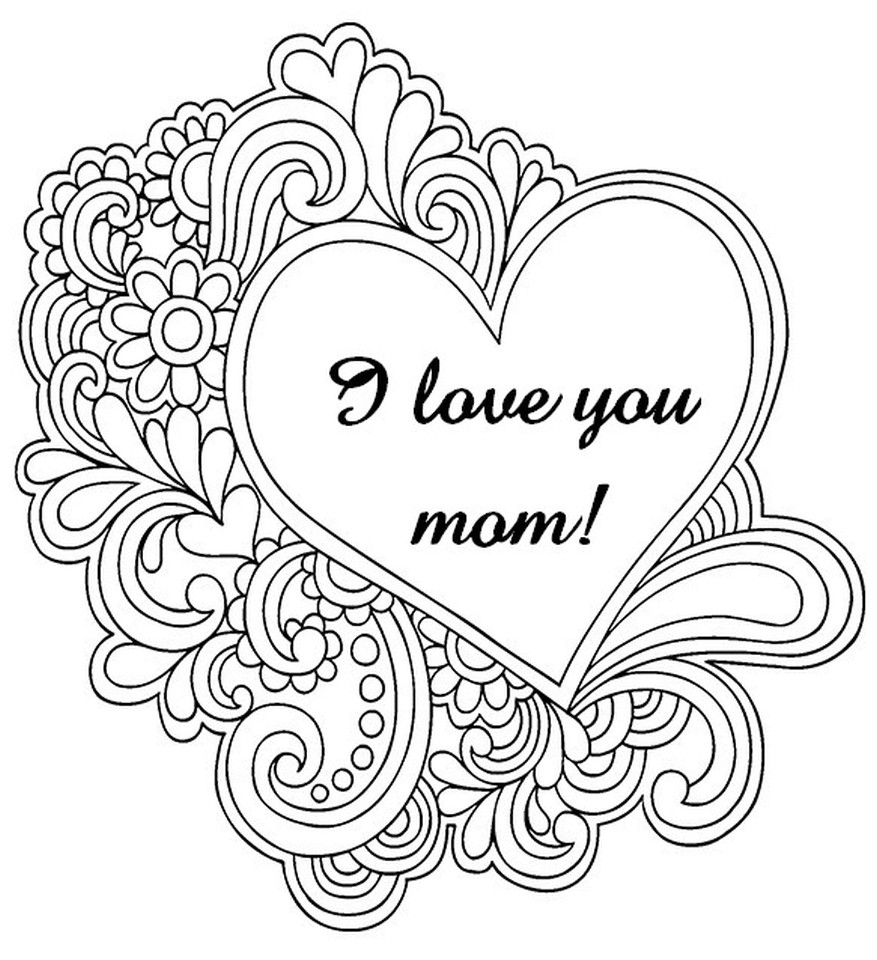 Mothers Day Coloring Pages For Adults  Get This Free Mother s Day Coloring Pages for Adults to