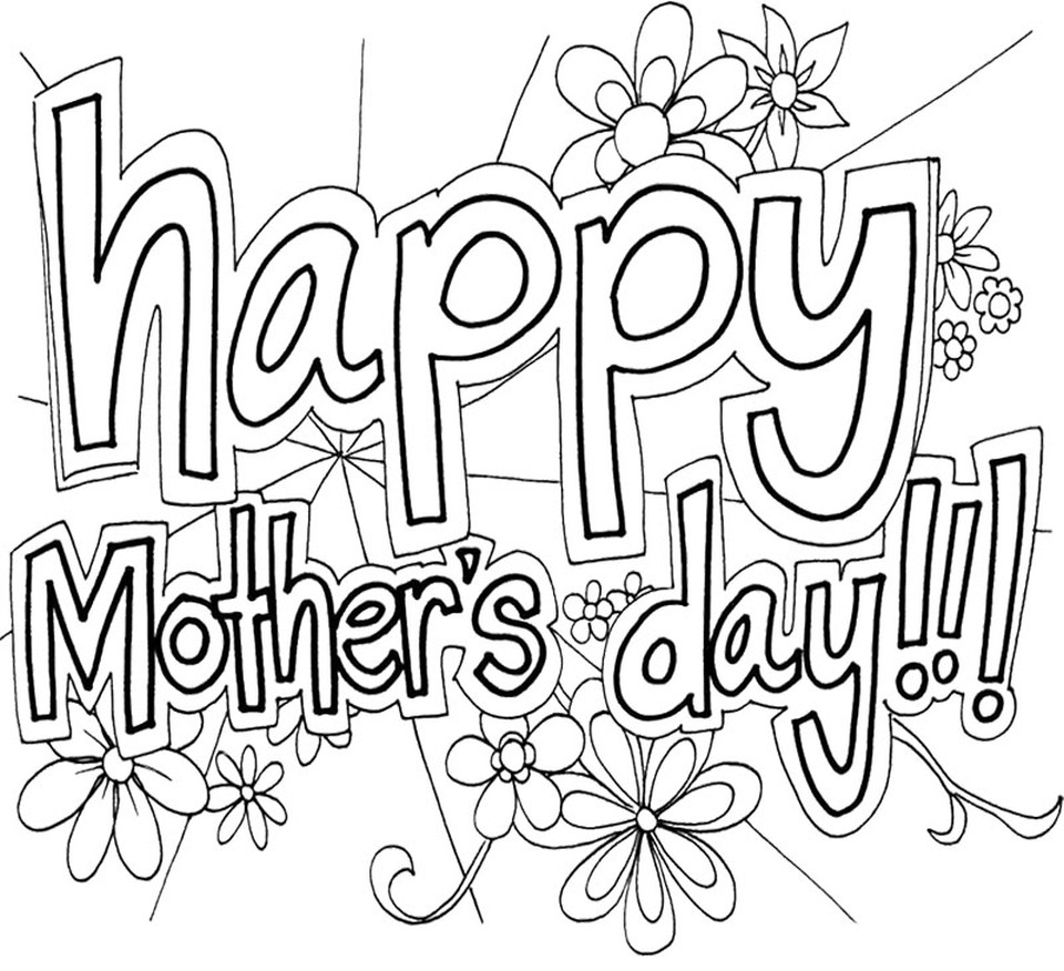 Mothers Day Coloring Pages For Adults  Get This line Printable Mother s Day Coloring Pages for