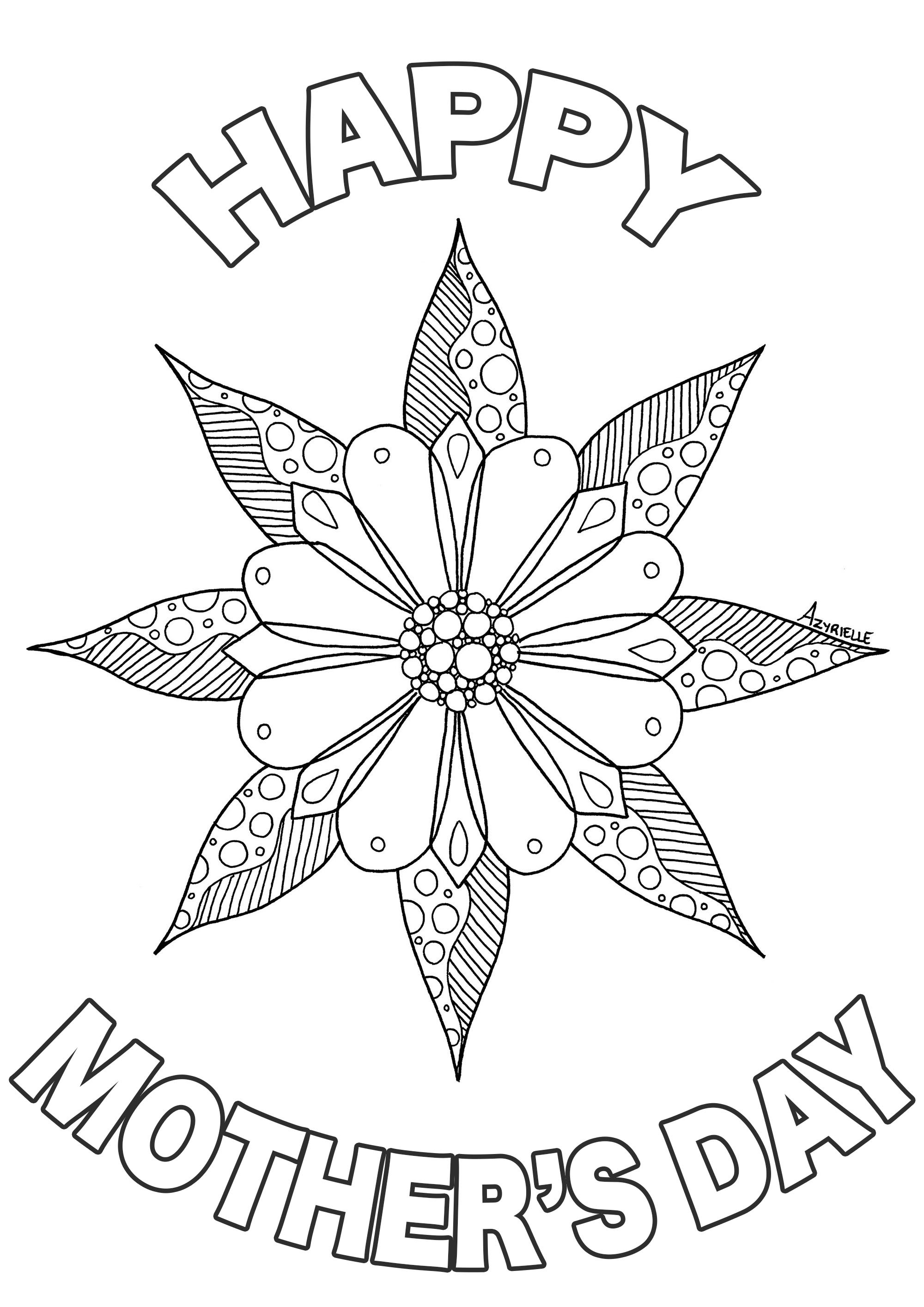 Mothers Day Coloring Pages For Adults  Mother s day Mother s Day Adult Coloring Pages