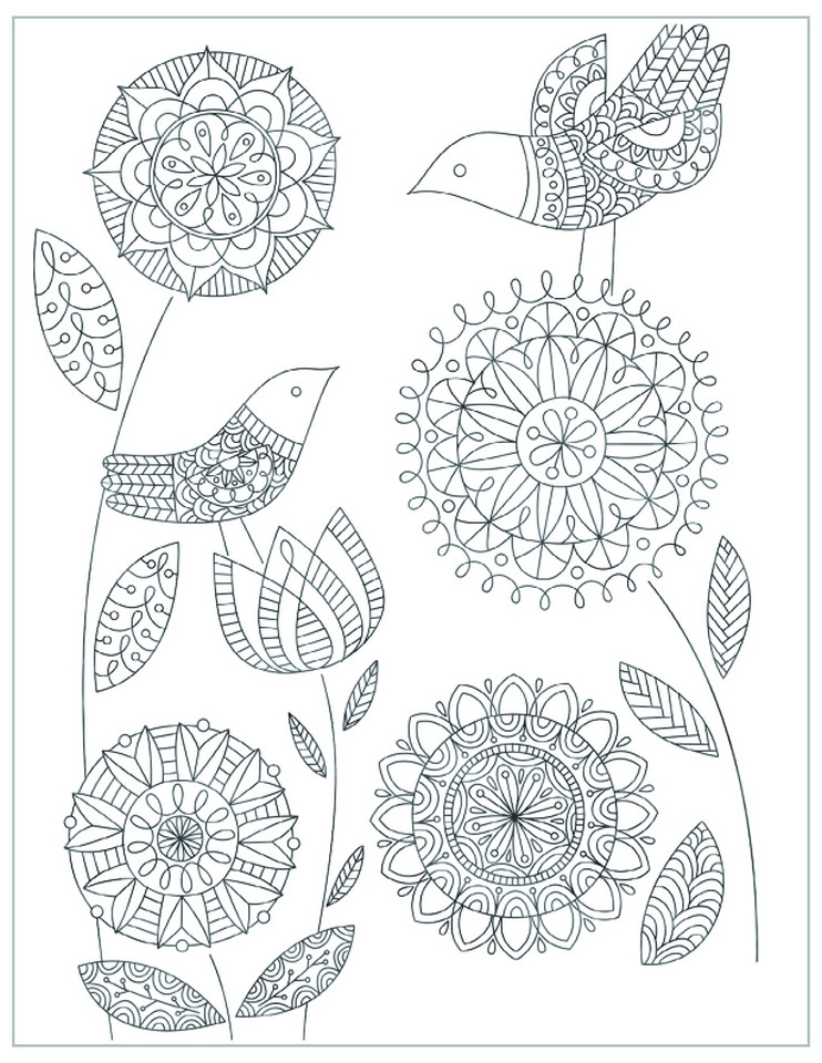 Mothers Day Coloring Pages For Adults  Adult mothers day cards Quality