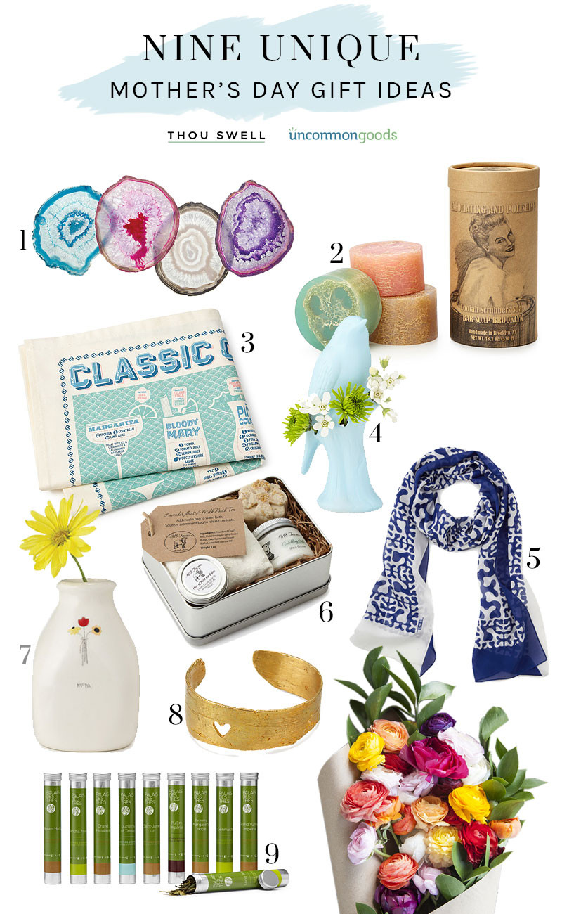 Best ideas about Mothers Day Unique Gift Ideas . Save or Pin 9 Unique Mother s Day Gift Ideas Thou Swell Now.