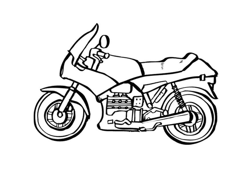 Motorcycle Coloring Pages For Kids  Free Printable Motorcycle Coloring Pages For Kids