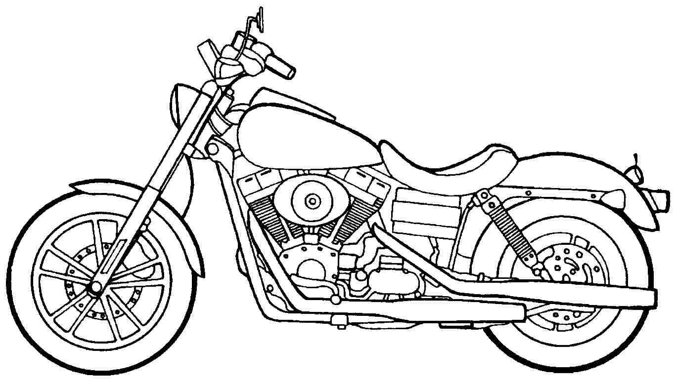 Motorcycle Coloring Pages For Kids  Motorcycle Coloring Pages coloringsuite
