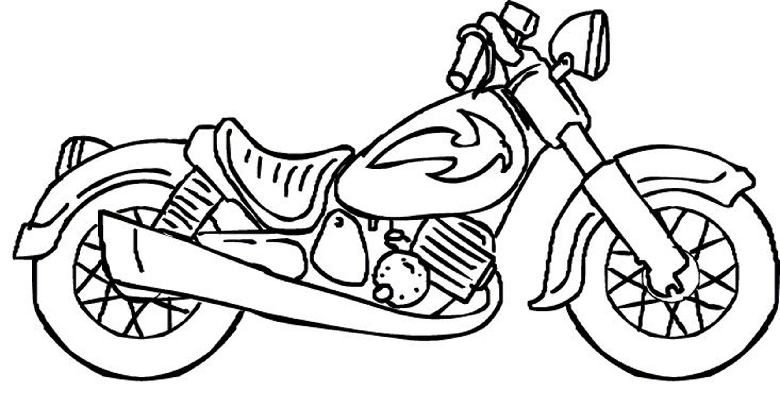 Motorcycle Coloring Pages For Kids  Motorcycle coloring pages for kids ColoringStar