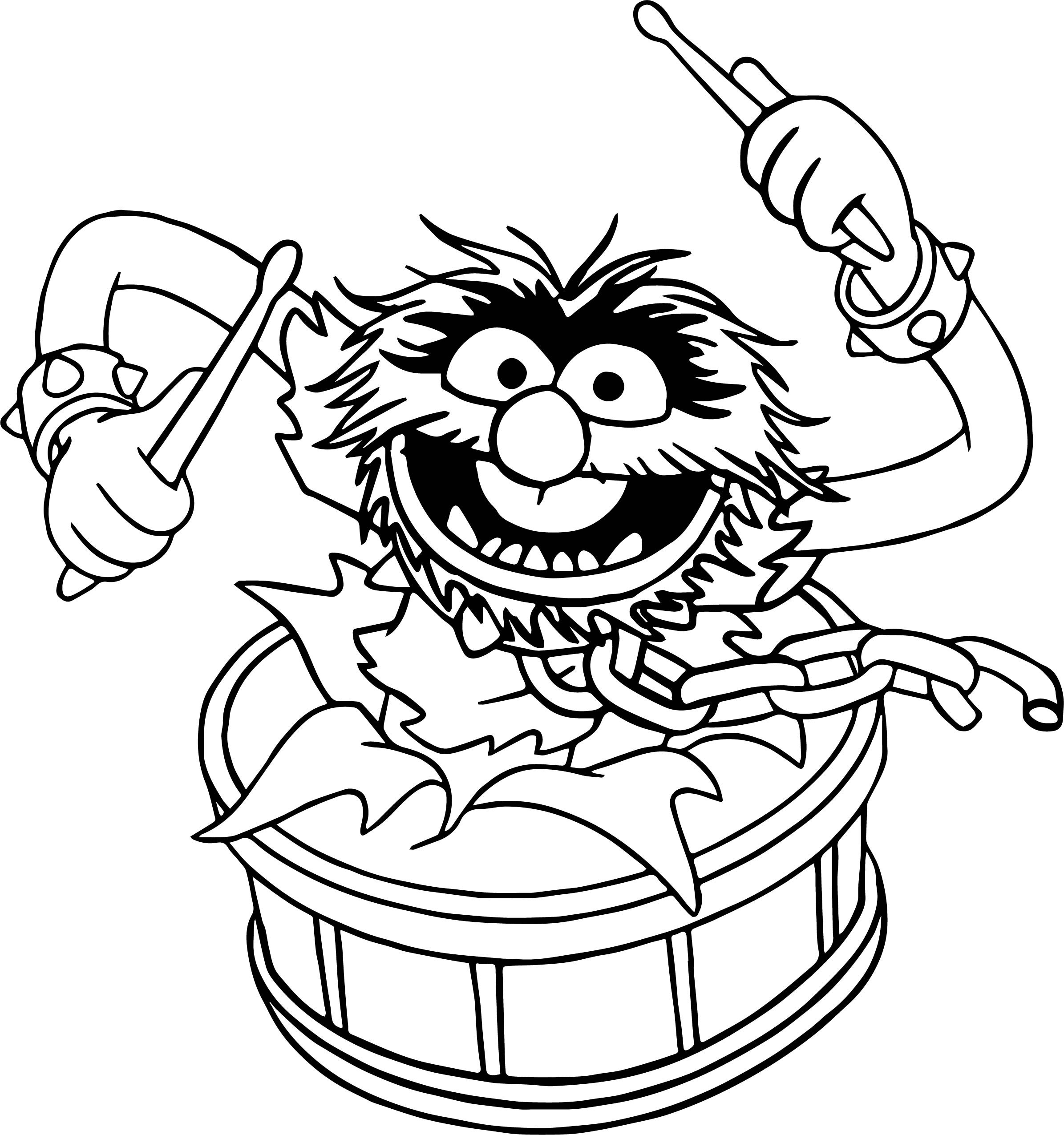 Muppets Coloring Book Pages  The Muppets Animal Song Coloring Pages