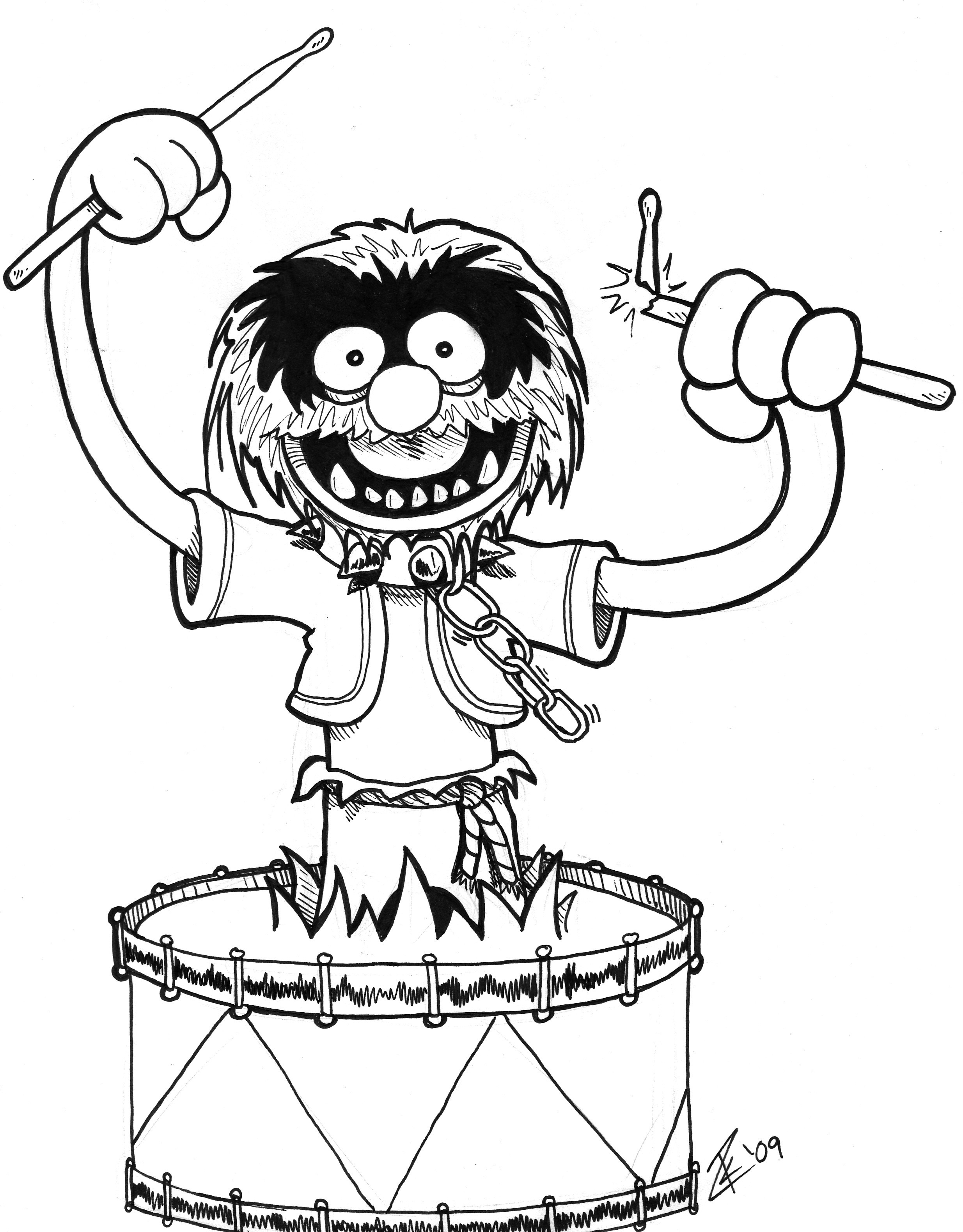 Muppets Coloring Book Pages  animaldrum