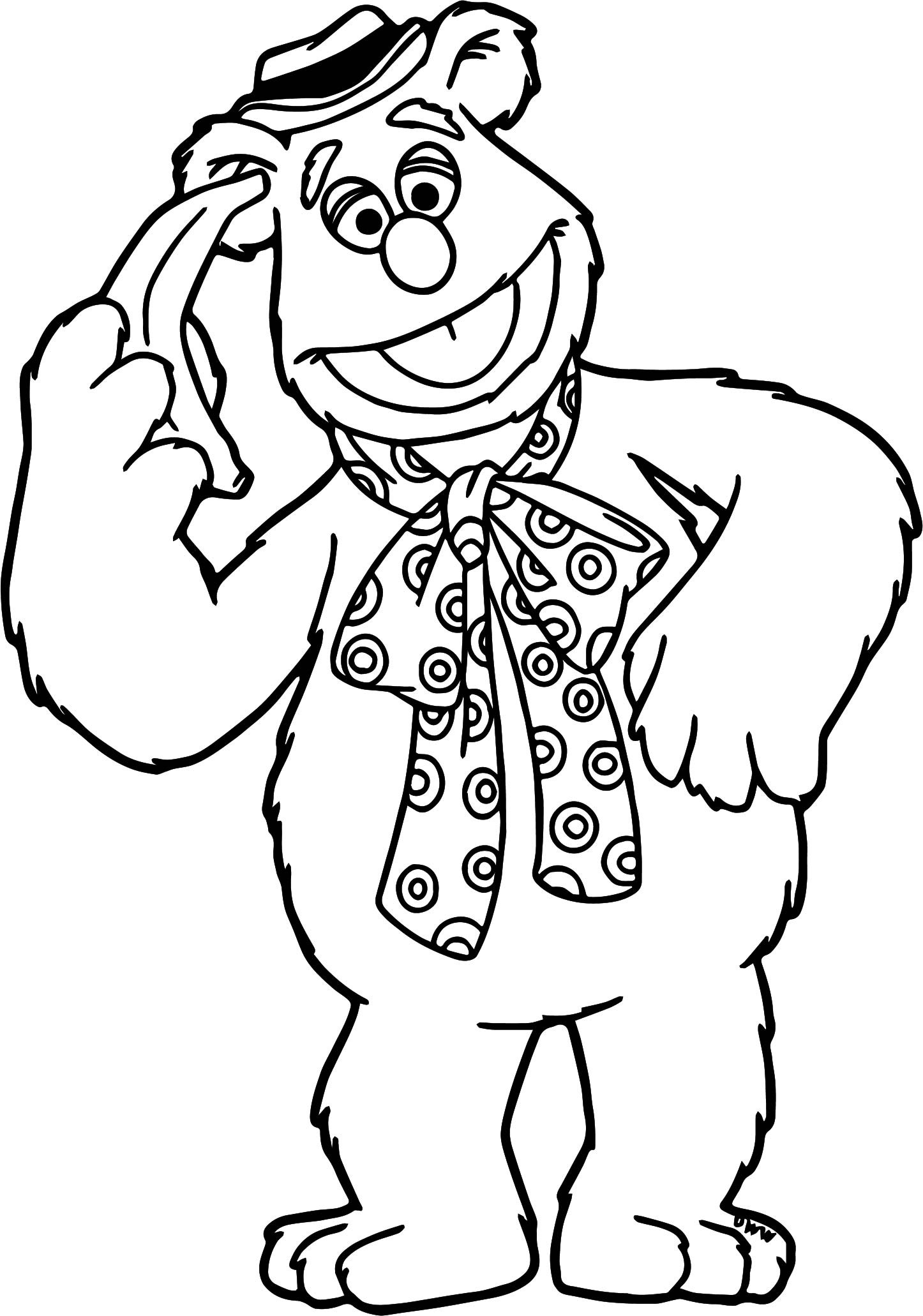 Muppets Coloring Book Pages  The Muppets Fozzie Coloring Pages