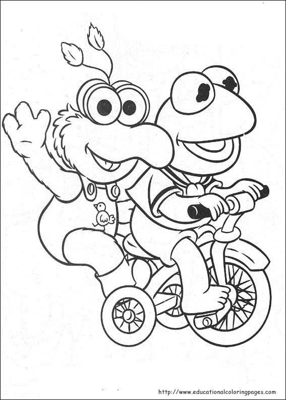 Muppets Coloring Book Pages  Muppets Babies Coloring Pages Educational Fun Kids
