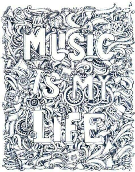 Best ideas about Music Crafts For Adults . Save or Pin Music Is My Life coloring page Coloring Now.