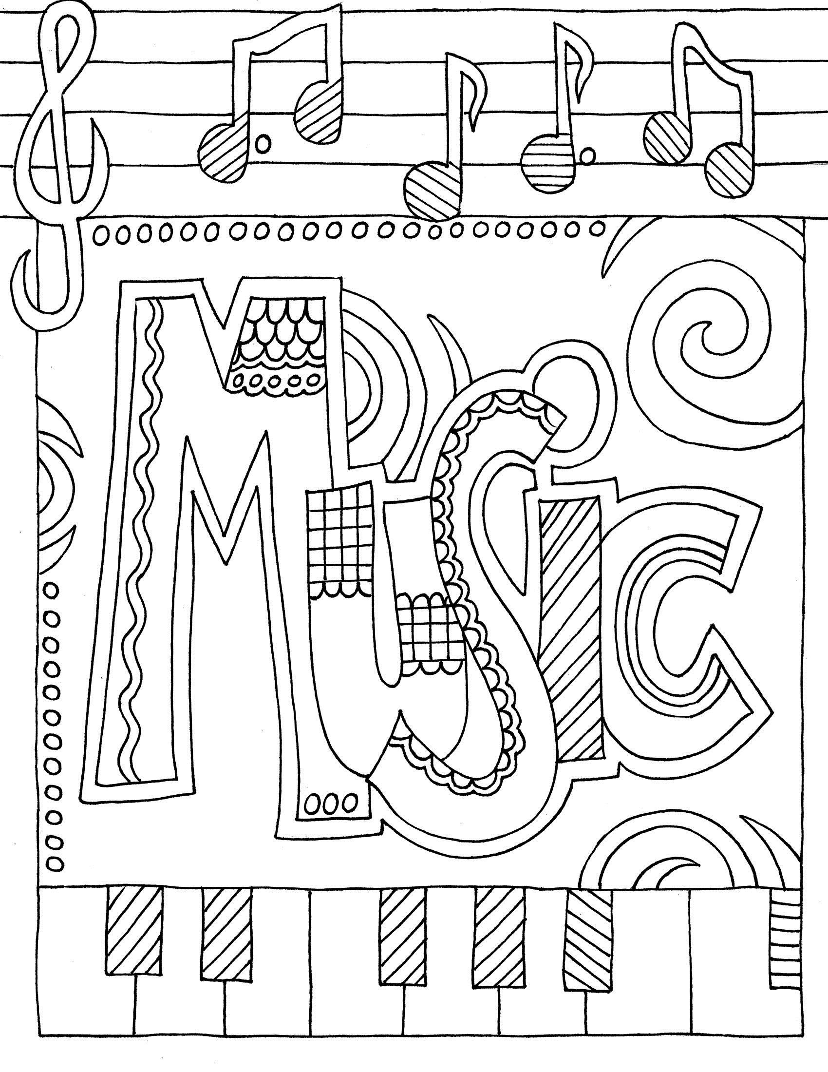 Musical Coloring Pages For Kids  Coloring Pages for Elementary School Kids Free