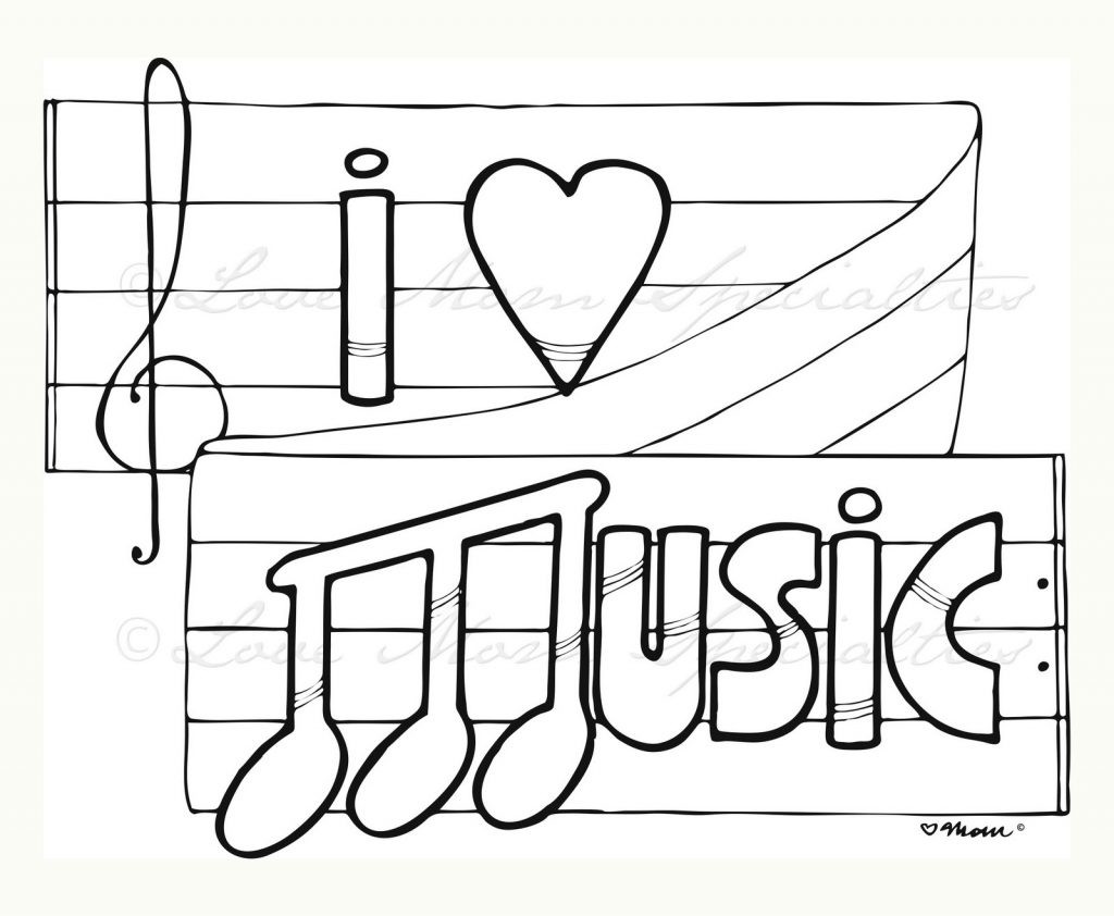 Musical Coloring Pages For Kids  Music Coloring Pages For Kindergarten Free Clipart