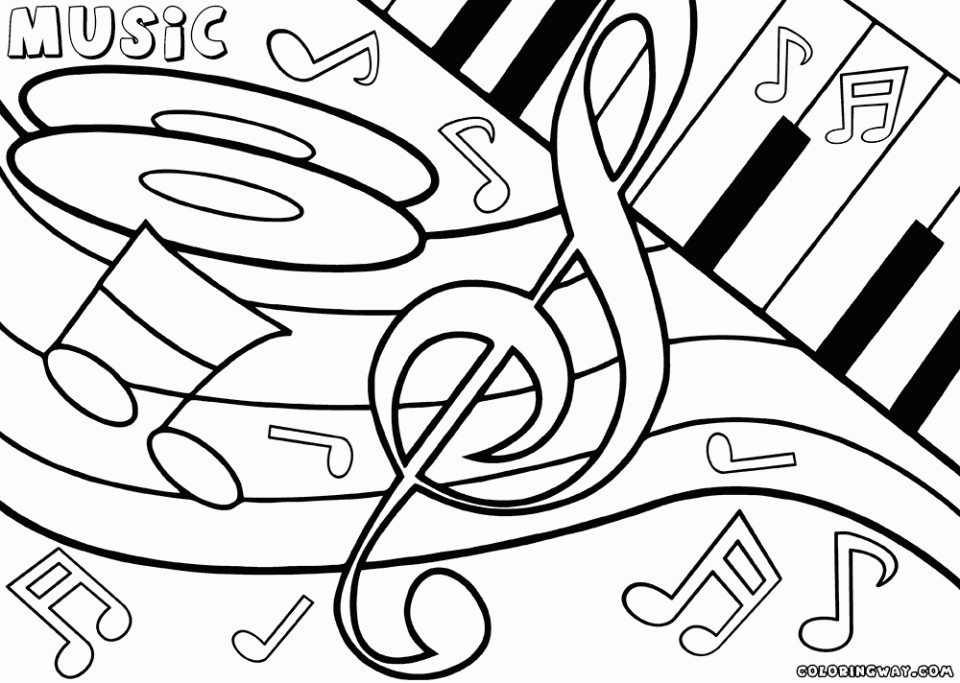 Musical Coloring Pages For Kids  Get This Easy Printable Music Coloring Pages for Children