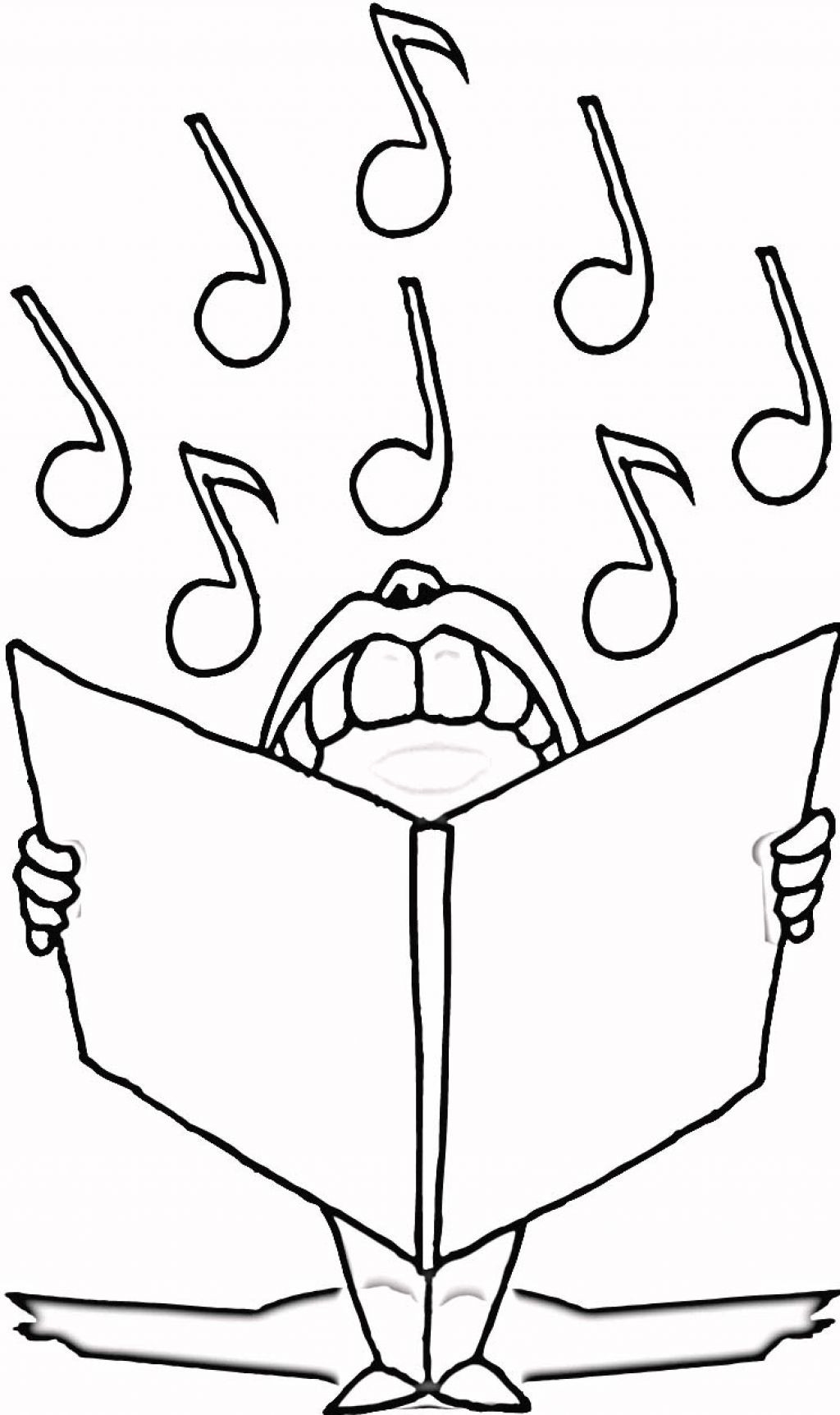 Musical Coloring Pages For Kids  Free Printable Music Note Coloring Pages For Kids