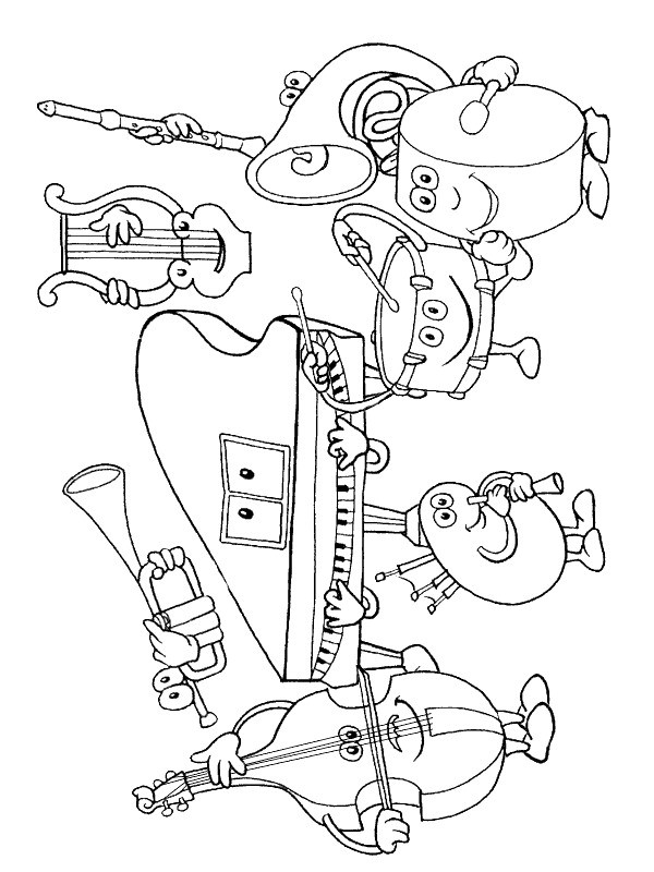 Musical Coloring Pages For Kids  Kids n fun