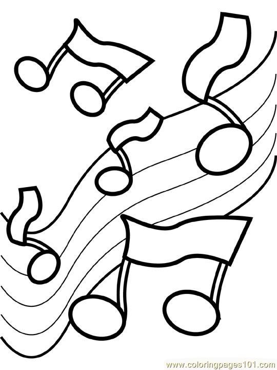 Musical Coloring Pages For Kids  Music Notes Coloring Pages