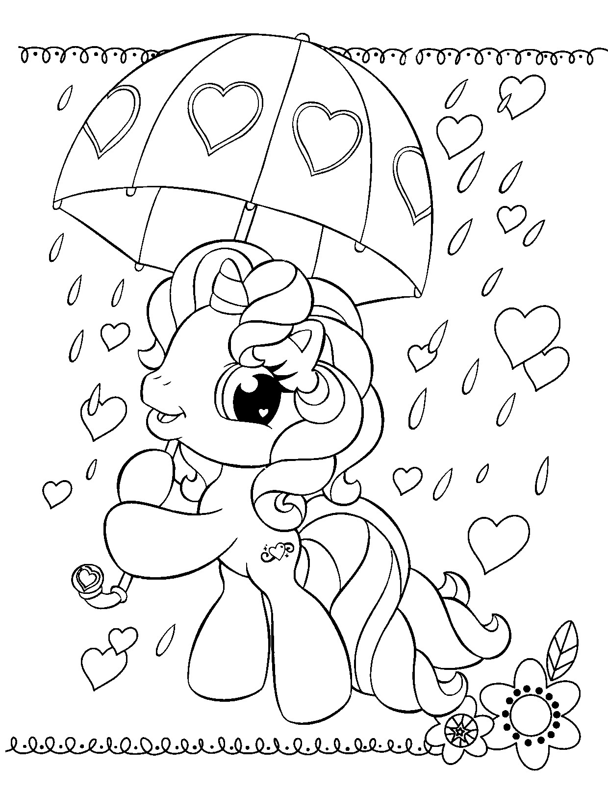 My Little Ponies Coloring Pages  Free Printable My Little Pony Coloring Pages For Kids
