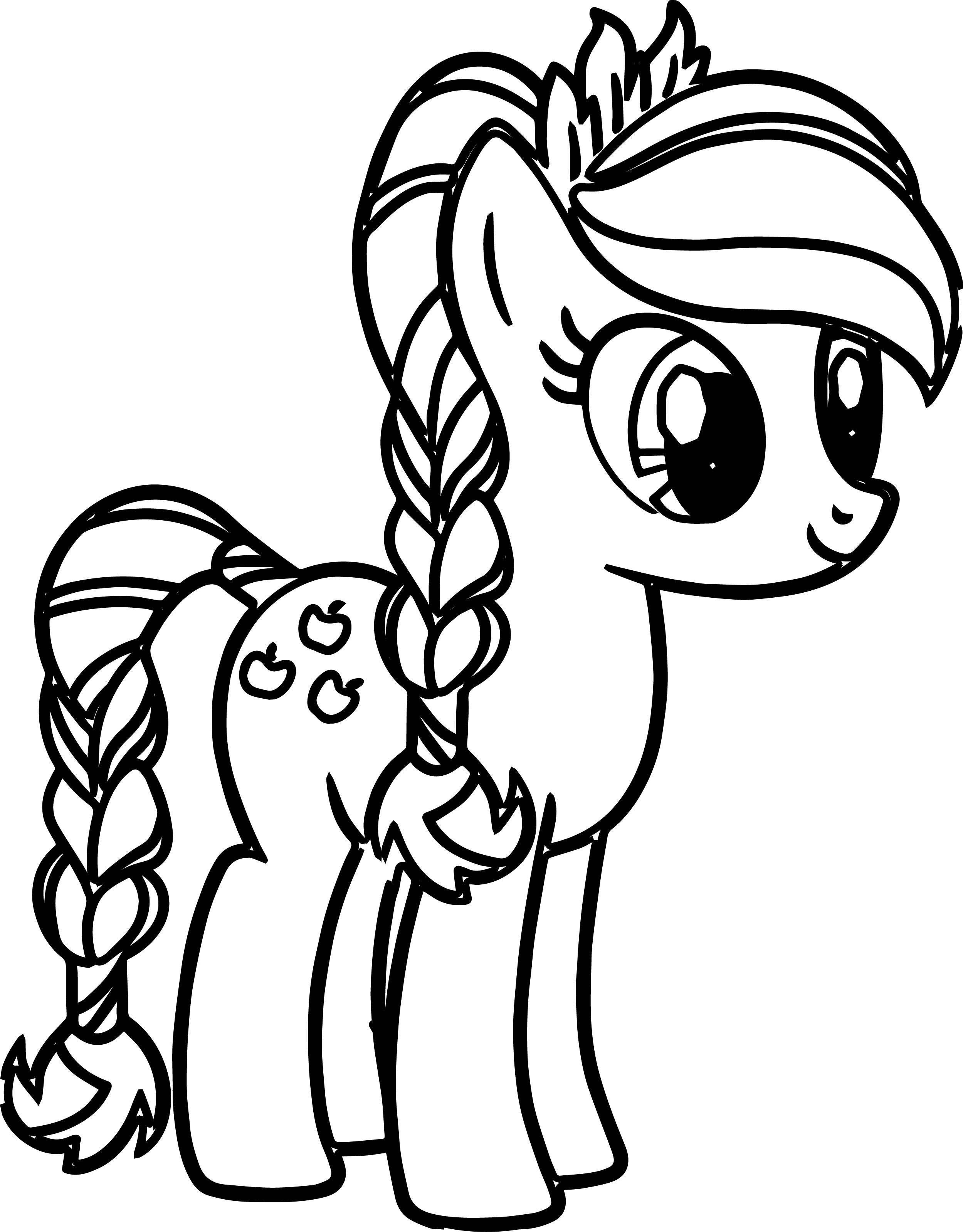 My Little Ponies Coloring Pages  Pony Cartoon My Little Pony Coloring Pages