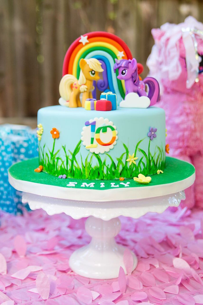 Best ideas about My Little Pony Birthday Decorations . Save or Pin Kara s Party Ideas Glam Floral My Little Pony Birthday Now.