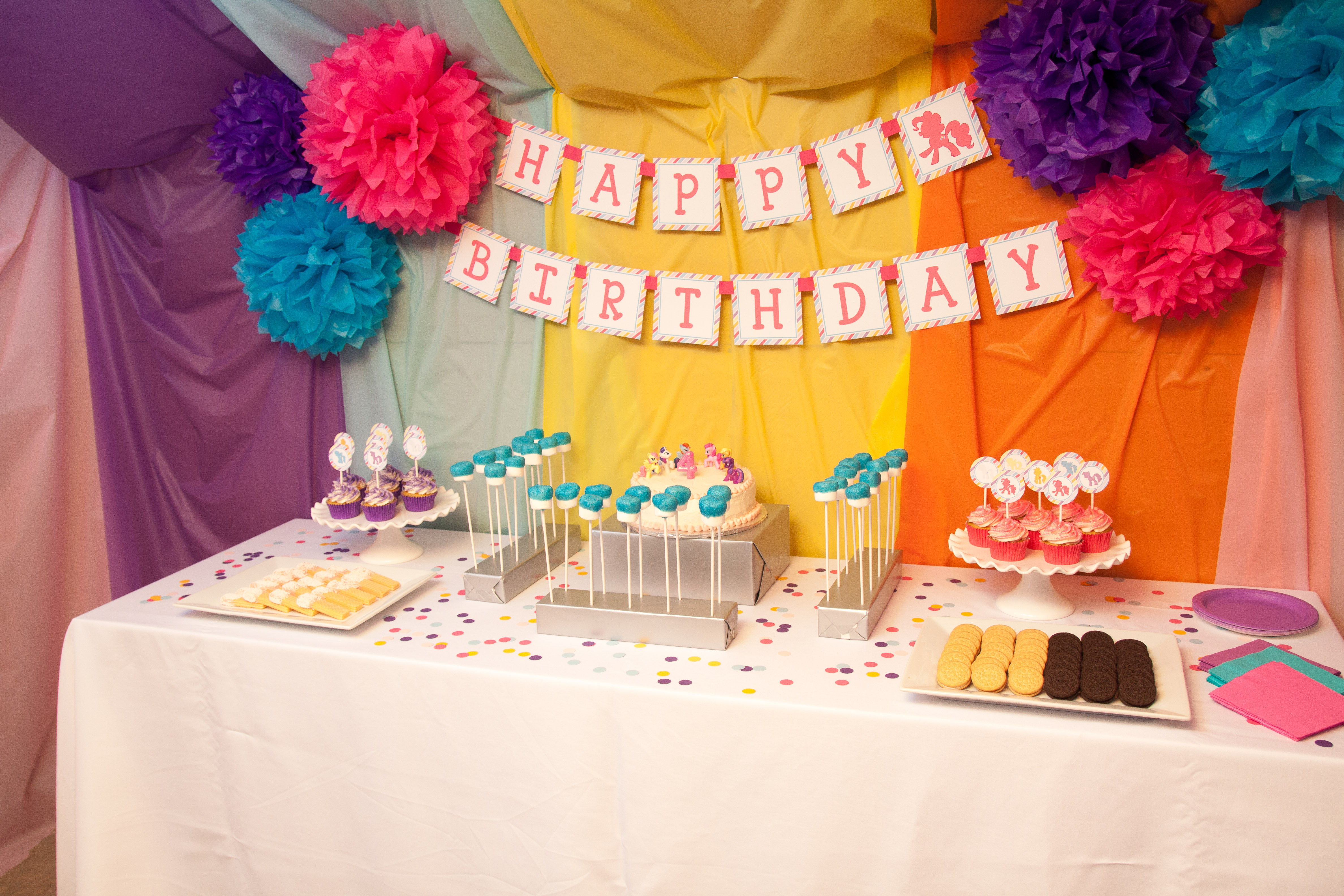 Best ideas about My Little Pony Birthday Decorations . Save or Pin Guest Party My Little Pony Fourth Birthday Party Now.