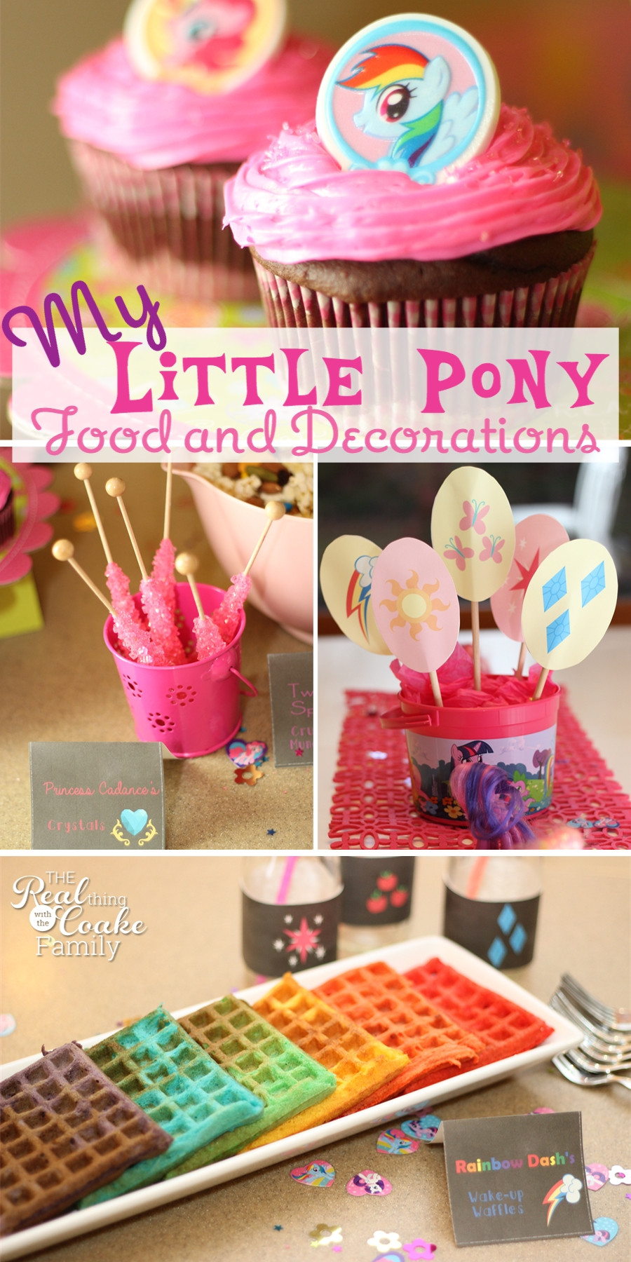 Best ideas about My Little Pony Birthday Decorations . Save or Pin My Little Pony Birthday Party Food and Decorating Ideas Now.