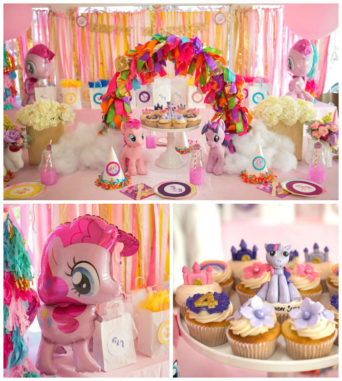 Best ideas about My Little Pony Birthday Decorations . Save or Pin Kara s Party Ideas My Little Pony Pink Birthday Party Now.