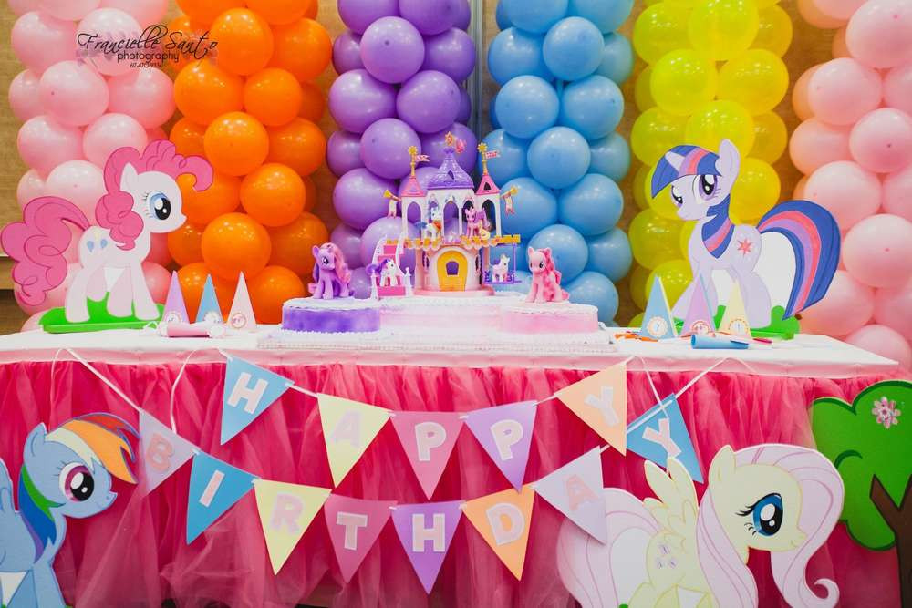 Best ideas about My Little Pony Birthday Decorations . Save or Pin Birthday Party Ideas My Little Pony Birthday Party Theme Now.