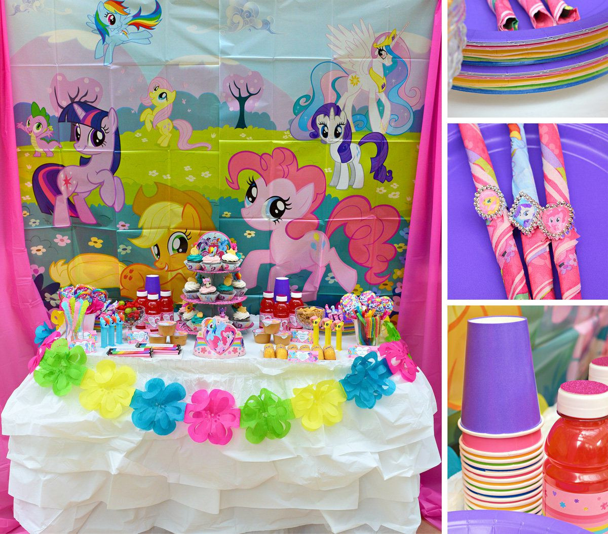 Best ideas about My Little Pony Birthday Decorations . Save or Pin My Little Pony Party Ideas Now.