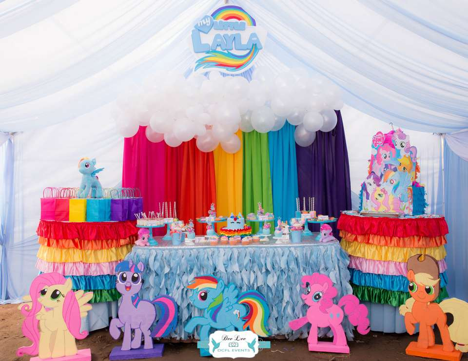 """Best ideas about My Little Pony Birthday Decorations . Save or Pin Rainbow Dash My Little Pony Birthday """"Layla s Rainbow Now."""
