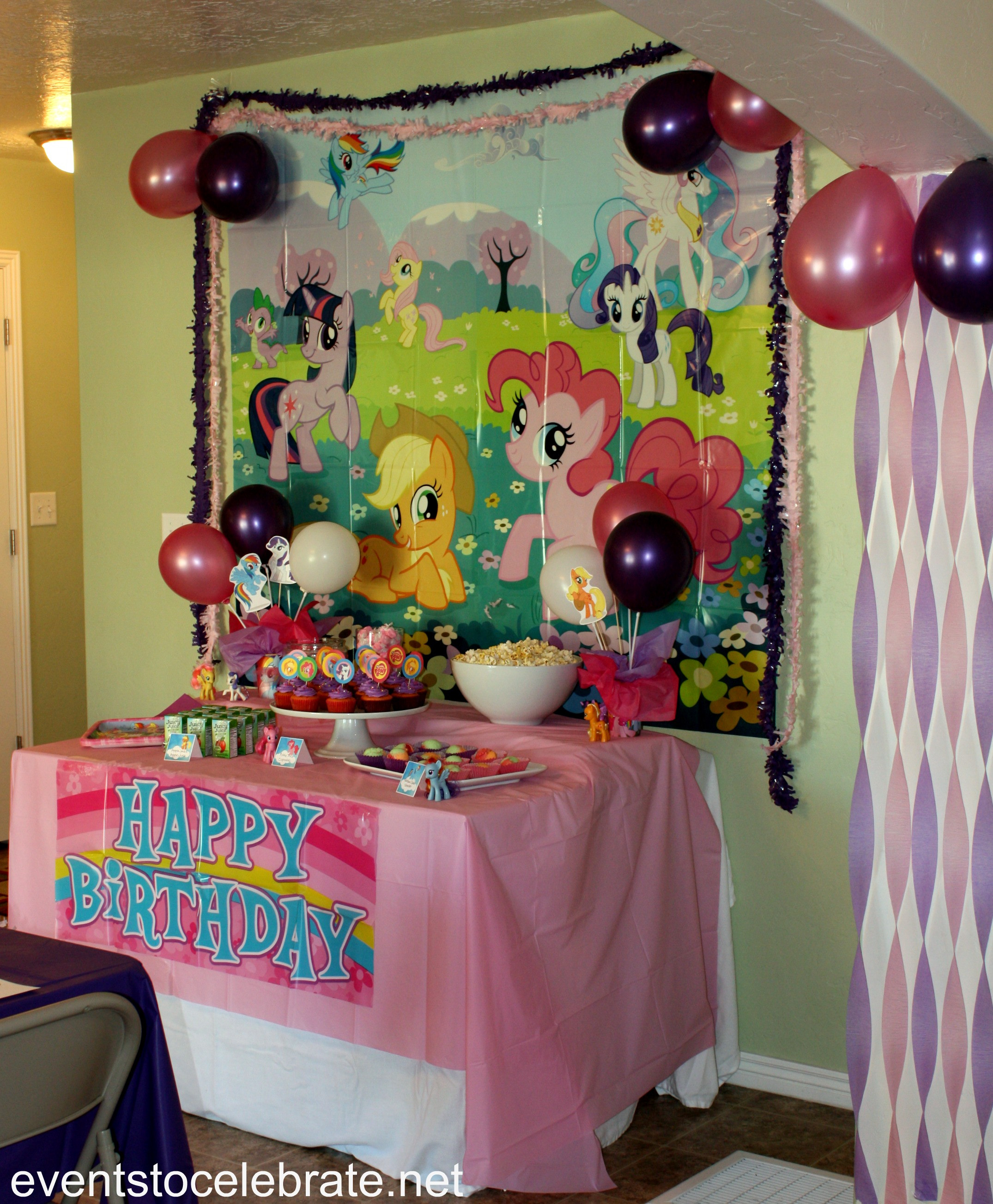 Best ideas about My Little Pony Birthday Decorations . Save or Pin My Little Pony Party Ideas events to CELEBRATE Now.