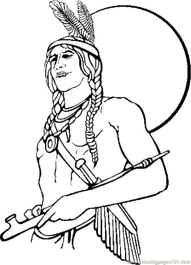 Native American Printable Coloring Pages  Native American Coloring Pages For Children AZ Coloring